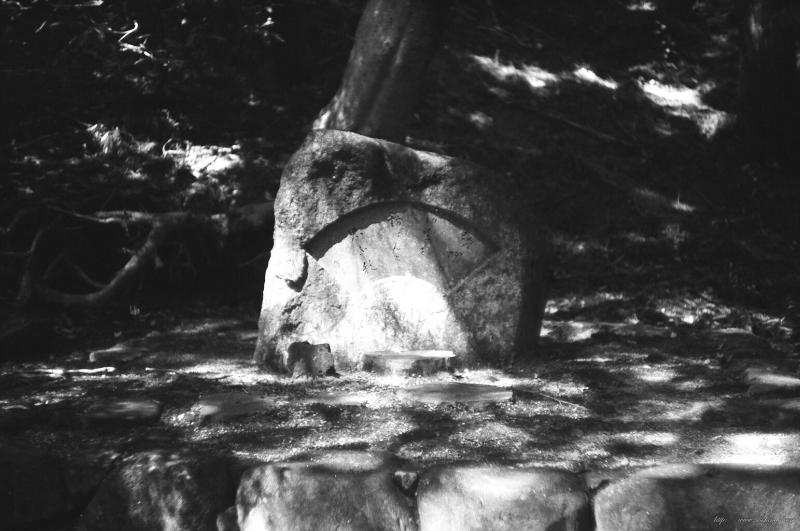 山で石碑に出会った