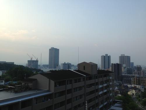 午前5:30の空模様。