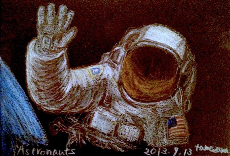Astronauts / 色鉛筆