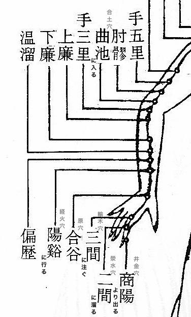 手陽明大腸経(井滎輸原経合)
