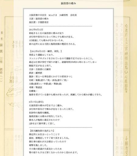 【症例集】鼠径部の痛み:大阪府豊中市のM.A様