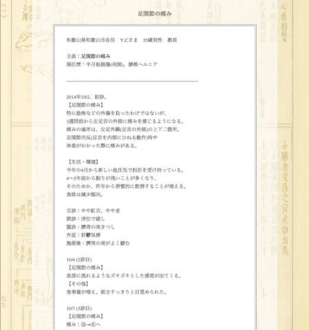 足関節の痛み:和歌山県和歌山市のY.Cさま