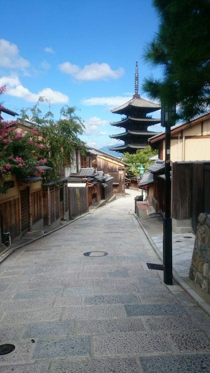 真夏の京都にて