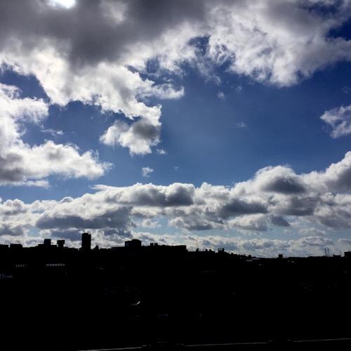 寒波の後の空