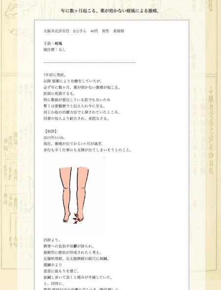 【症例集】痛風:大阪市北区のE.U様