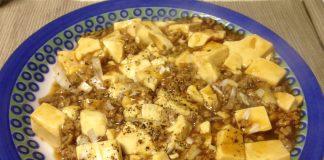 麻婆豆腐を作りました