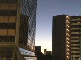 早朝の東の空(江坂にて)