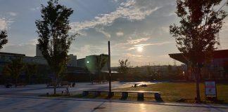 夕方の遺跡公園