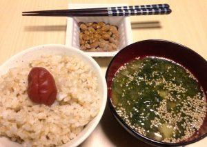 ヘルシーな晩御飯です。 玄米を炊いてみました。