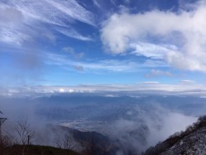 駒ヶ岳から南アルプスをのぞむ