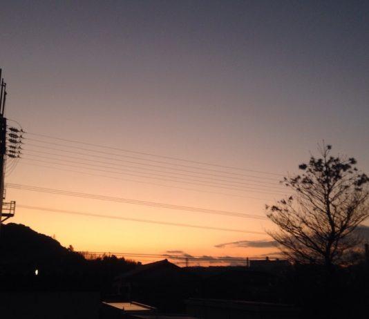 真冬の夕焼けは、引き締まったような感じがします