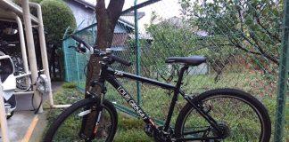 黒の自転車