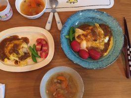 オムライスとスープ