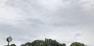 どんよりとした、降雨の前の空