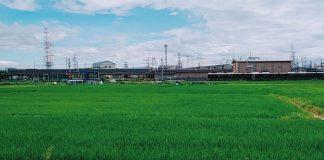 田んぼと阪急電車