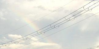 また虹を見ることができました。ここ1ヶ月の間に、数年分の虹を見れた気がします。(8月末の雨上がりにて)