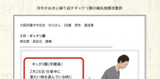 【症例集】ギックリ腰:大阪府豊中市のM.S様