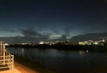 夕暮れ直後の西の空
